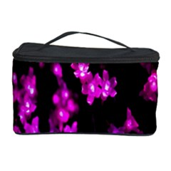Abstract Background Purple Bright Cosmetic Storage Case by Onesevenart