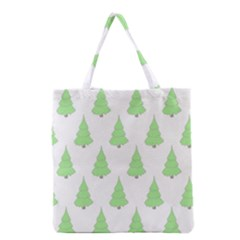 Background Christmas Christmas Tree Grocery Tote Bag by Onesevenart