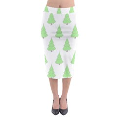 Background Christmas Christmas Tree Midi Pencil Skirt by Onesevenart