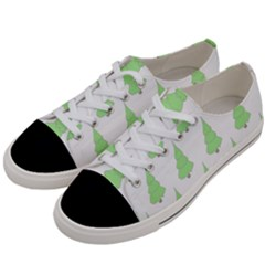 Background Christmas Christmas Tree Women s Low Top Canvas Sneakers by Onesevenart