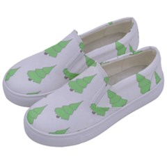 Background Christmas Christmas Tree Kids  Canvas Slip Ons by Onesevenart