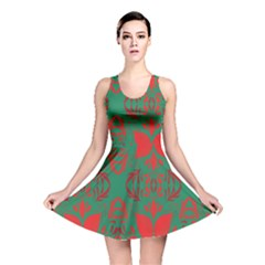 Christmas Background Reversible Skater Dress by Onesevenart