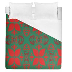 Christmas Background Duvet Cover (queen Size) by Onesevenart