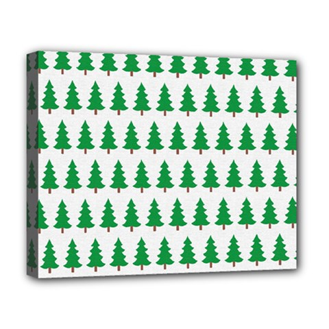 Christmas Background Christmas Tree Deluxe Canvas 20  X 16   by Onesevenart