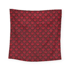 Scales2 Black Marble & Red Leather Square Tapestry (small) by trendistuff