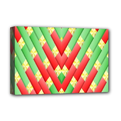 Christmas Geometric 3d Design Deluxe Canvas 18  X 12   by Onesevenart
