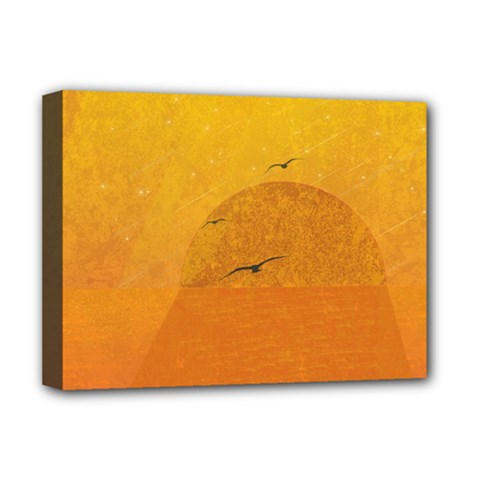 Sunset Deluxe Canvas 16  X 12   by berwies