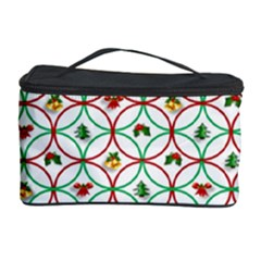 Christmas Decorations Background Cosmetic Storage Case by Onesevenart