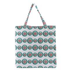 Christmas 3d Decoration Colorful Grocery Tote Bag by Onesevenart