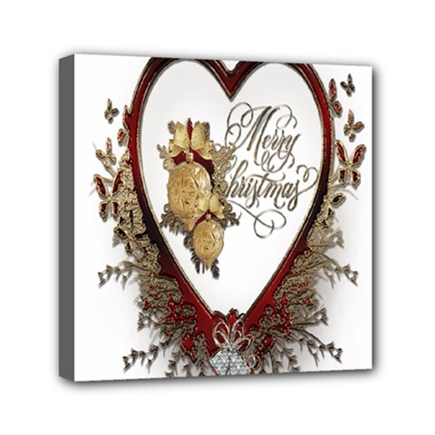 Christmas D¨|cor Decoration Winter Mini Canvas 6  X 6  by Onesevenart