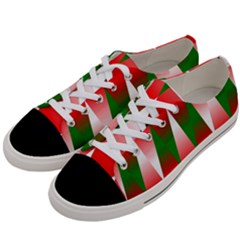 Christmas Geometric Background Women s Low Top Canvas Sneakers by Onesevenart