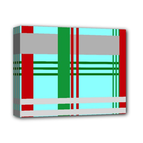 Christmas Plaid Backgrounds Plaid Deluxe Canvas 14  X 11  by Onesevenart