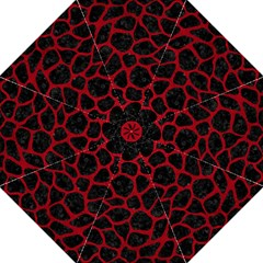 Skin1 Black Marble & Red Leather Folding Umbrellas by trendistuff