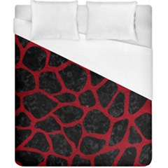 Skin1 Black Marble & Red Leather Duvet Cover (california King Size) by trendistuff