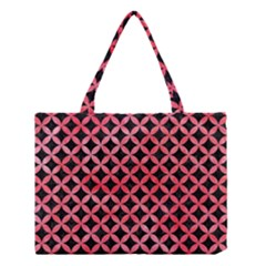 Circles3 Black Marble & Red Watercolor (r) Medium Tote Bag by trendistuff