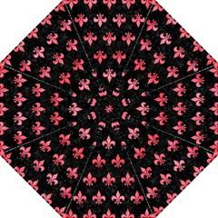 Royal1 Black Marble & Red Watercolor Hook Handle Umbrellas (large) by trendistuff