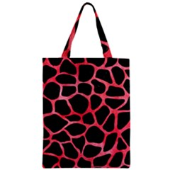 Skin1 Black Marble & Red Watercolor Zipper Classic Tote Bag by trendistuff