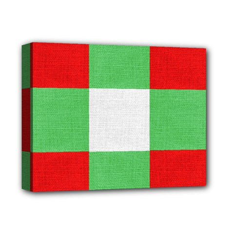 Fabric Christmas Colors Bright Deluxe Canvas 14  X 11  by Onesevenart
