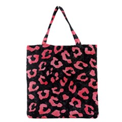 Skin5 Black Marble & Red Watercolor Grocery Tote Bag by trendistuff
