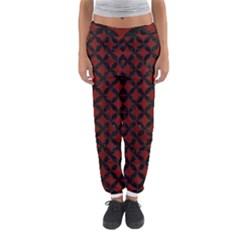Circles3 Black Marble & Red Wood Women s Jogger Sweatpants by trendistuff