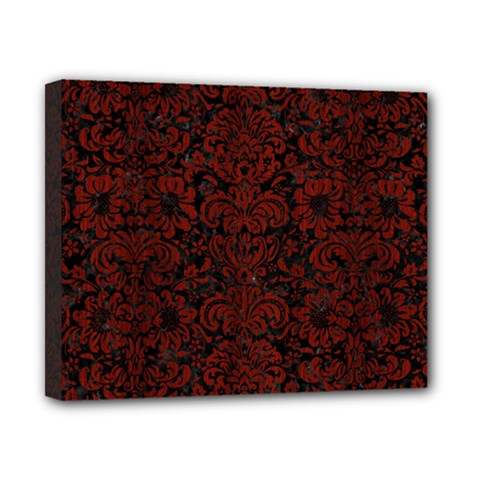 Damask2 Black Marble & Red Wood (r) Canvas 10  X 8  by trendistuff