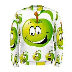 Apple Green Fruit Emoji Face Smile Fres Red Cute Men s Sweatshirt