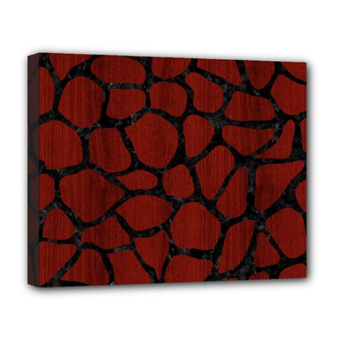 Skin1 Black Marble & Red Wood (r) Deluxe Canvas 20  X 16   by trendistuff