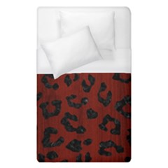 Skin5 Black Marble & Red Wood (r) Duvet Cover (single Size)