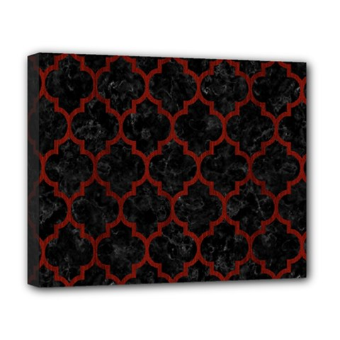 Tile1 Black Marble & Red Wood (r) Deluxe Canvas 20  X 16   by trendistuff