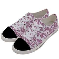 Vintage Floral Pattern Women s Low Top Canvas Sneakers by 8fugoso
