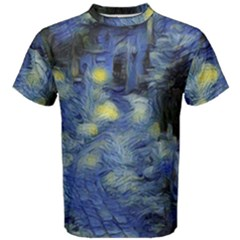 Van Gogh Inspired Men s Cotton Tee by 8fugoso