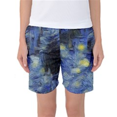 Van Gogh Inspired Women s Basketball Shorts by 8fugoso