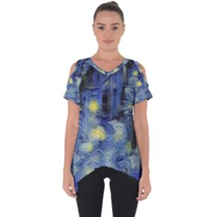 Van Gogh Inspired Cut Out Side Drop Tee by 8fugoso