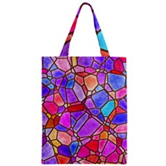Mosaic Linda 1 Zipper Classic Tote Bag by MoreColorsinLife