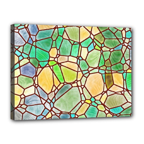 Mosaic Linda 2 Canvas 16  X 12  by MoreColorsinLife