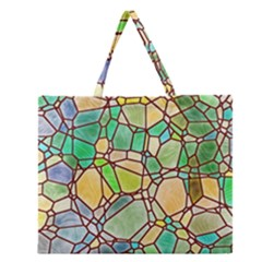 Mosaic Linda 2 Zipper Large Tote Bag by MoreColorsinLife