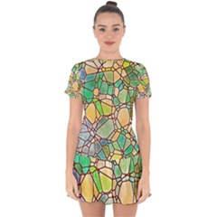 Mosaic Linda 2 Drop Hem Mini Chiffon Dress