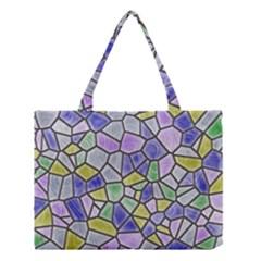Mosaic Linda 5 Medium Tote Bag by MoreColorsinLife