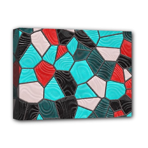 Mosaic Linda 4 Deluxe Canvas 16  X 12   by MoreColorsinLife