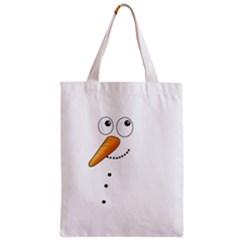 Cute Snowman Zipper Classic Tote Bag by Valentinaart