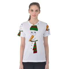 Cute Snowman Women s Cotton Tee