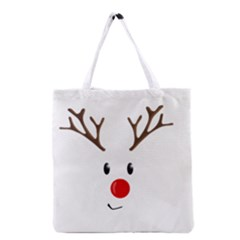 Cute Reindeer  Grocery Tote Bag by Valentinaart