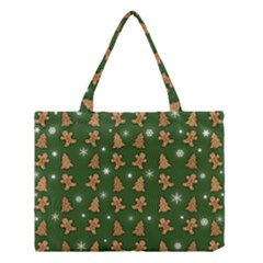 Ginger Cookies Christmas Pattern Medium Tote Bag by Valentinaart