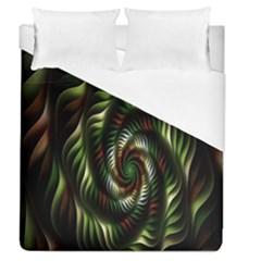 Fractal Christmas Colors Christmas Duvet Cover (queen Size) by Onesevenart
