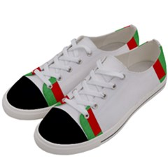 Fabric Christmas Red White Green Women s Low Top Canvas Sneakers by Onesevenart