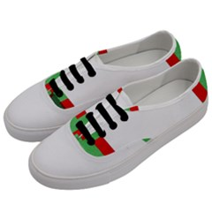 Fabric Christmas Red White Green Men s Classic Low Top Sneakers by Onesevenart