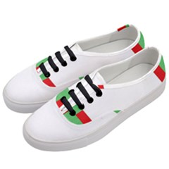 Fabric Christmas Red White Green Women s Classic Low Top Sneakers by Onesevenart