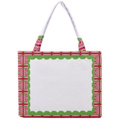 Frame Pattern Christmas Frame Mini Tote Bag by Onesevenart