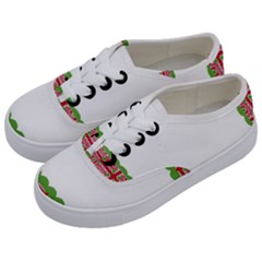 Frame Pattern Christmas Frame Kids  Classic Low Top Sneakers by Onesevenart