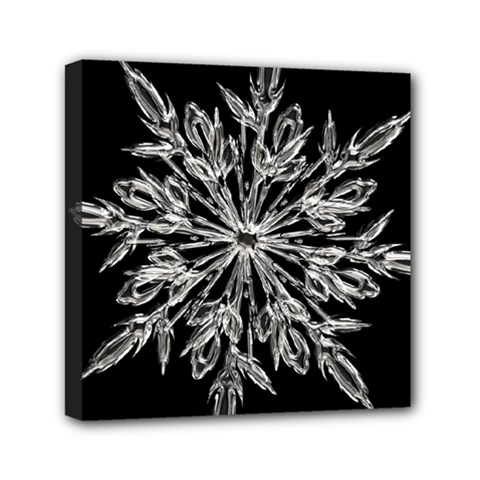 Ice Crystal Ice Form Frost Fabric Mini Canvas 6  X 6  by Onesevenart